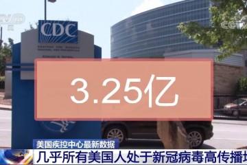 美国疾控中心几乎所有美国人都处于新冠病毒高传播地区